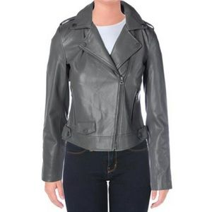 Lucky Brand grey faux leather jacket NWT
